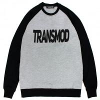 Світшот Transmod Logo Black Melange