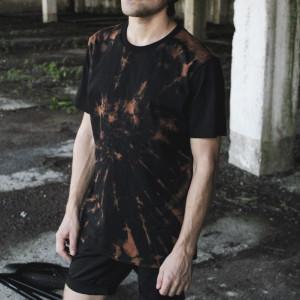 Футболка Transmod Bleached / Black Sleeve